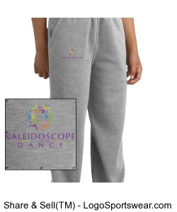 Youth Open Bottom Sweatpant Design Zoom